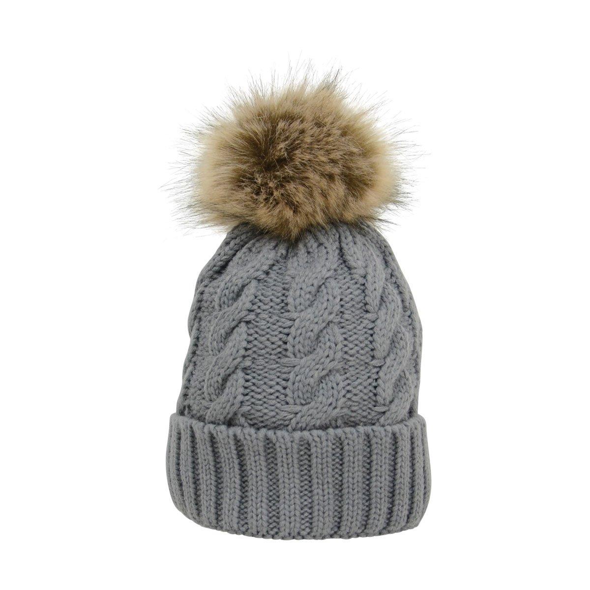 219c454e29f Hy Fashion Melrose Cable Knit Bobble Hat Ladies - Eileen Douglas ...