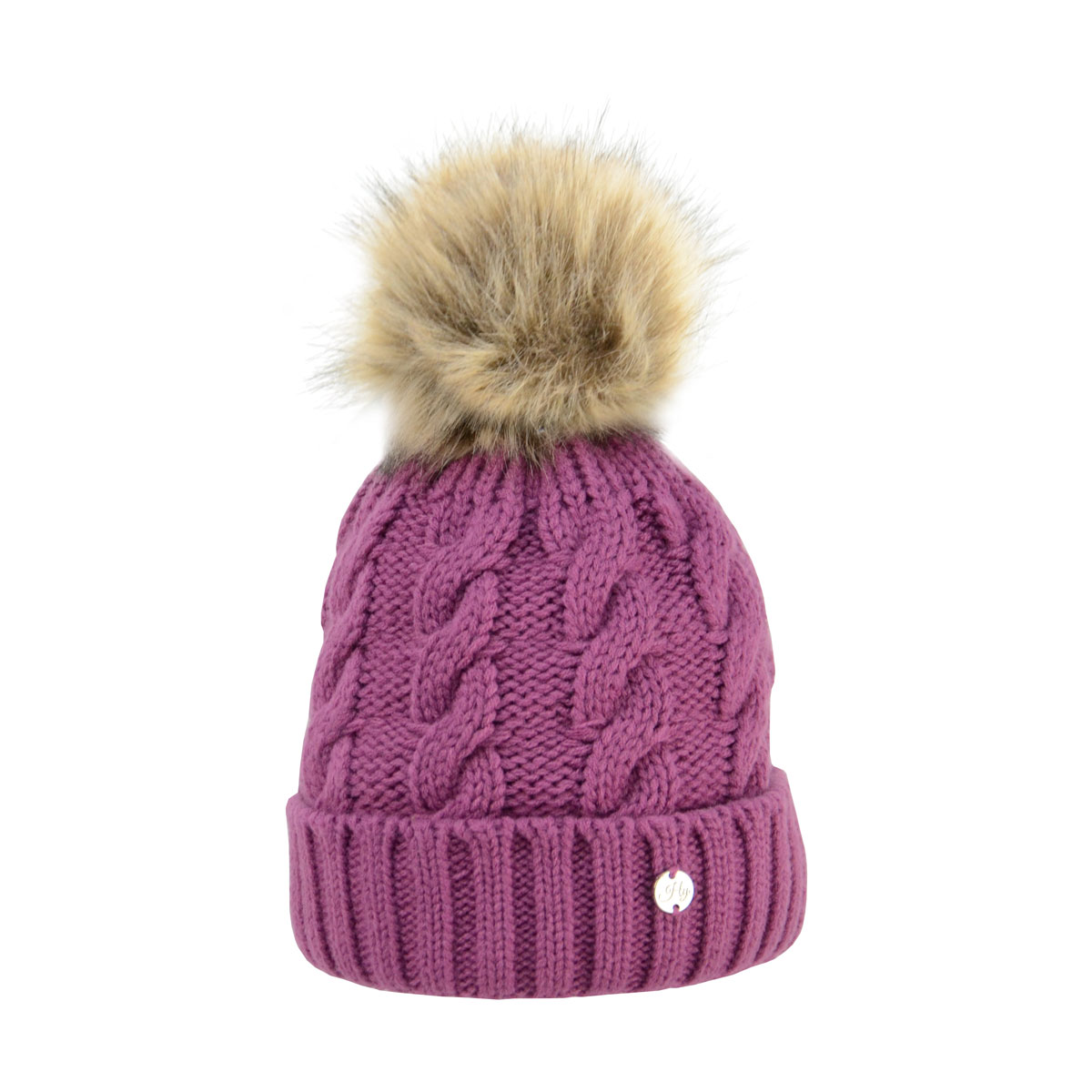 7dbf978f042 ... coupon hy fashion melrose cable knit bobble hat ladies 1d15c d10e5