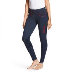Ariat Wms FEI Olympia Acclaim Low Rise Knee Patch Breeches - Image
