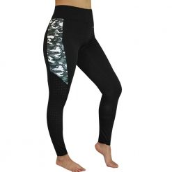 EDT FLUORITE RIDING TIGHTS - Black/Camouflage