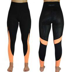 EDT AMETHYST RIDING TIGHTS - Black/Orange