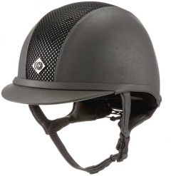 Charles Owen AYR8 Plus Leather Look Riding Hat - Image