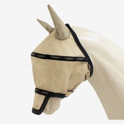 RAMBO FLY MASK PLUS - Silver/Electric