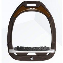 FLEX-ON GREEN COMPOSITE ULTRA GRIP STIRRUPS BROWN/BLACK/BROWN - Image